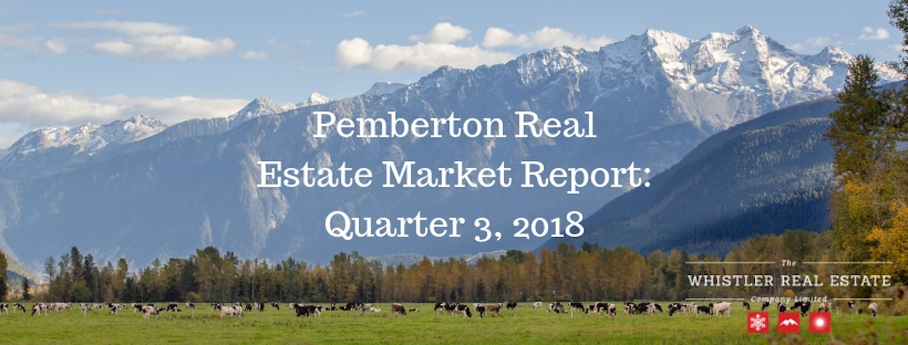 Pemberton Real Estate Market Report: Quarter 3, 2018